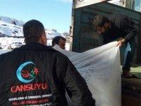 Cansuyu Derneği depremzedelere yardım çalışmalarına devam ediyor
