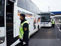 Yolcu otobüslerinde koronavirüs denetimi