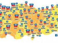 Türkiye'nin koronavirüs haritası