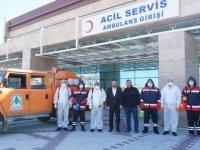 Pursaklar Belediyesi, Devlet Hastanelerini dezenfekte ediyor