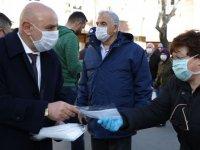 Başkan Altınok: Öz kaynaklarımızla maske ve dezenfektan üretiyoruz
