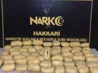 Yüksekova'da 31 kilo uyuşturucu ele geçirildi