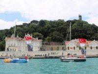 Fetih coşkusu İstanbul Boğazı'nda başladı
