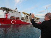 Cumhurbaşkanı Erdoğan, 'Fatih' sondaj gemisini uğurladı
