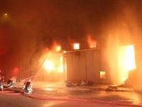 Çorum'da Küçük Sanayi Sitesi'nde büyük yangın