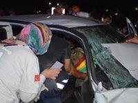 Bilecik'te iki otomobil kafa kafaya çarpıştı: 6 yaralı