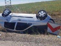 Virajı alamayan otomobil şarampole yuvarlandı: 1 ölü, 4 yaralı