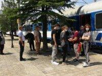 Avrupa'dan gelen ilk gurbetçi treni Kapıkule'de