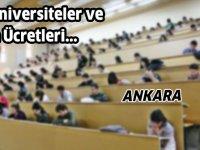 Ankara'da bulunan Özel Üniversiteler ve fiyatları