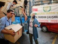 İHH Beyrut'ta 3 bin 700 kişiye acil yardım ulaştırdı