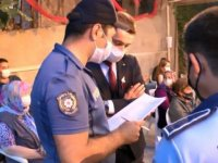 Maltepe'de düğünlerde maske ve sosyal mesafe denetimi