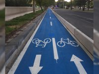 İlk bisiklet yolu hizmette