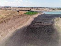 Kurtbey Göleti kuraklık nedeniyle kurudu, çiftçi tedirgin