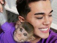3'üncü kez kaçak maymun alan sosyal medya fenomeni gözaltına alındı