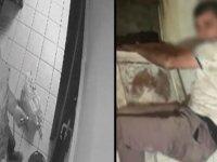 Tuvalet penceresinden kaçmaya çalışan hırsızlık şüphelileri kamerada