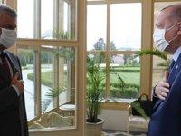 Cumhurbaşkanı Erdoğan, Kosova Cumhurbaşkanı ile bir araya geldi