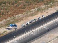 Manisa'da helikopterle yapılan denetimde 30 araç sürücüsüne ceza