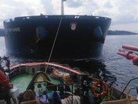 Kanlıca açıklarında arızalanan yük gemisi kıyı emniyeti ekiplerince kurtarıldı