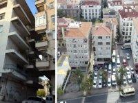 Avcılar'da 1 yıl önce mühürlenen 'eğik bina' bir türlü yıktırılamadı