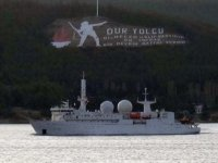 Fransız zırhlı istihbarat gemisi Çanakkale Boğazı'ndan geçti