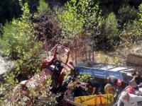 Şarampole devrilen traktördeki Kevser öldü, 2 yaralı