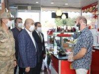Mardin'de, Vali Demirtaş'ın katılımıyla koronavirüs denetimi