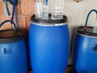 Tekirdağ'da çiftlikte 1 ton sahte içki ele geçirildi