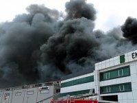 Silivri'de fabrika yangını