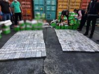 Mersin'de, Brezilya'dan gelen geminin kağıt yüklü konteynerinde 220 kilo 'kokain' ele geçirildi