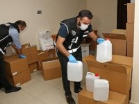 Adana'da 1305 litre sahte etil alkol ele geçirildi