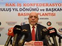 """Hak İş Genel Başkanı Mahmut Arslan: """"Örgütsüzseniz kimsesizsiniz"""""""
