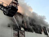 Kağıthane'de 3 katlı iş merkezinde yangın