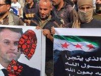 Resulayn'daki Fransa protestosunda DEAŞ bayrağı açan kişi gözaltına alındı