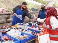 Öz kaynaklarla üretilen dezenfektan dağıtımı devam ediyor