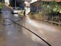 Kızılcahamam sokakları yıkanıyor