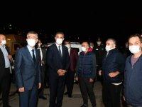 Başkan Köse, patlamanın olduğu bölgede incelemelerde bulundu