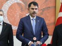 Çevre ve Şehircilik Bakanı Kurum: Bornova ve Bayraklı'da 5 binanın yıkıldığı bilgisini aldık