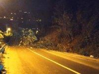 Rize'de heyelan nedeniyle kapanan yol ulaşıma açıldı
