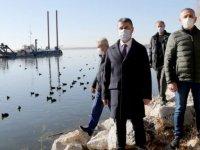 GÖL-DER Başkanı Gürsel Demirci ve beraberindeki dernek yönetimi Mogan'ı ziyaret etti