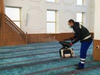 Keçiören'deki ibadethaneler dezenfekte ediliyor