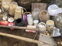 Bitlis'te, teröristlerin toprağa gömdüğü malzemeler ele geçirildi