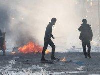 Süleymaniye'de güvenlik güçleri göstericilere müdahale etti