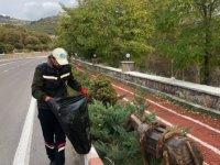 Çamlıdere'de mıntıka temizliği