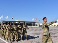 Suriye Milli Ordusu, ilk askeri kışlasını törenle açtı