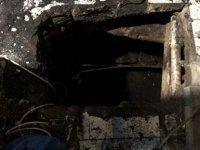 Evin altı kaçak kömür ocağına çevrilmiş