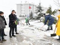 Mamak Belediye Başkanı Murat Köse, çalışmaları denetledi