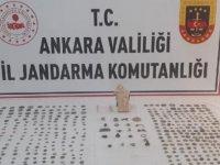 Ankara'da tarihi eser operasyonu: 2 gözlatı