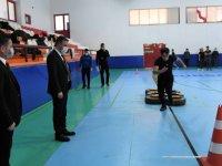 Başkan Ertuğrul Çetin, polis adaylarını ziyaret etti