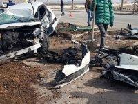 Kayseri'de iki otomobilin çarpıştığı kazada okul müdürü öldü, 3 kişi yaralandı