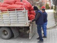 İhtiyaç sahiplerine 30 ton soğan dağıtıldı
